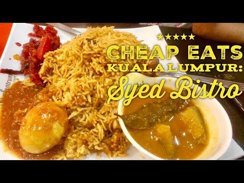 Cheap Eats Kuala Lumpur: Syed Bistro Halal Indian Malay Restaurant 24 Hours Dang Wangi