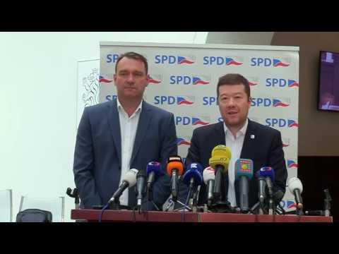 Tomio Okamura: Tiskovka SPD 23.4.2019