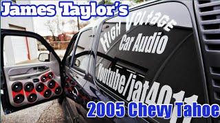 James Taylor's Chevy Tahoe | 15 psi platform 3 15's on 5 ampere audio 5k's