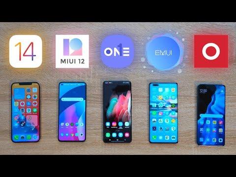 iOS 14 vs MIUI 12 vs One UI 3.1 vs EMUI 11 y Oxygen OS. ¡Todas las diferencias!