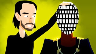 Kanye West vs. Keanu Reeves - ANIMEME RAP BATTLES