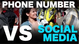 What contact info should you get from a girl??  Phone Number VS. Social Media!  STREET TEAM REVEAL