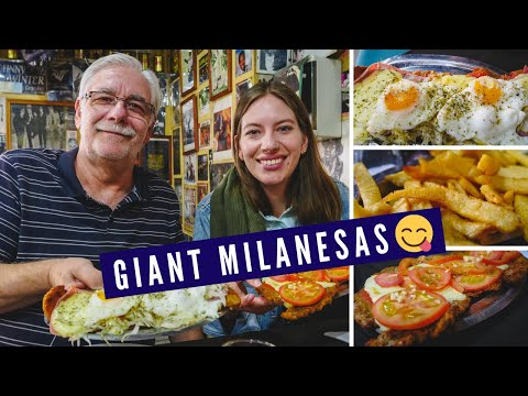Where to eat GIANT MILANESAS in Buenos Aires, Argentina | Buenos Aires Food Review