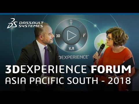 3DEXPERIENCE Forum Asia Pacific South 2018 - Interview with Pierre Marchadier - Dassault Systèmes