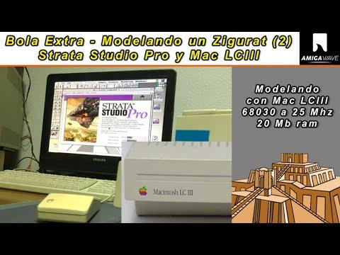 Bola Extra - Modelando un Zigurat (parte 2) con Mac LCIII a 25 Mhz y Strata Studio Pro 1.5 .