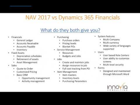 NAV 2017 and Dynamics 365 – The differences