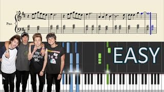 5 Seconds Of Summer - Jet Black Heart - EASY Piano Tutorial + Sheets