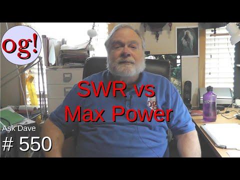 SWR vs Max Power (#550)
