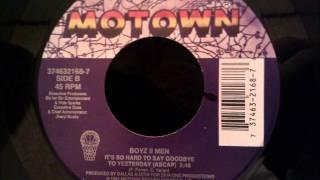 Boyz II Men - It's So Hard To Say Goodbye To Yesterday (Acapella) - Classic 90's R&B