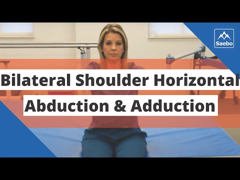 SaeboMAS Exercise - Sitting Bilateral Shoulder Horizontal Abduction and Adduction