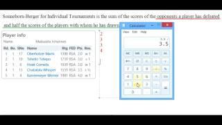 Sonneborn-Berger for Individual Tournaments Tie-Break System