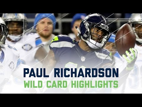 Paul Richardson Makes 3 Amazing Catches in Seahawks Victory! | NFL Wild Card Player Highlights