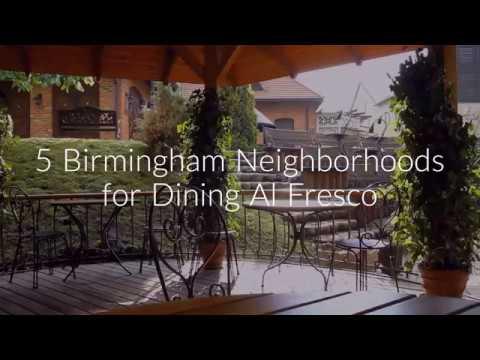 5 Birmingham Neighborhoods for Dining Al Fresco