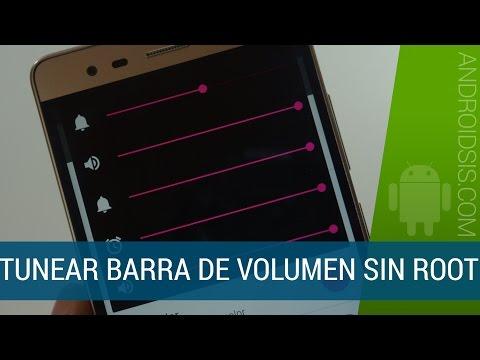 Cómo modificar la barra de volumen de Android sin Root