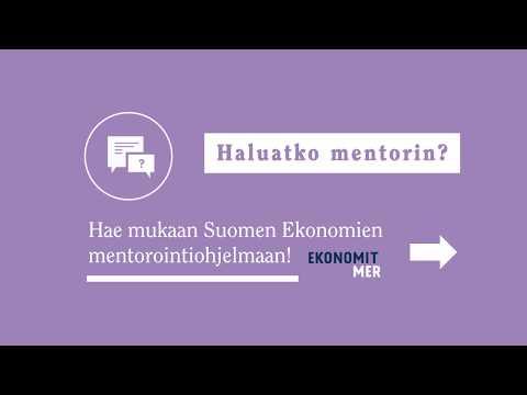 Hae aktoriksi Ekonomien mentorointiohjelmaan!
