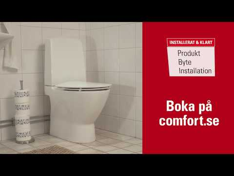 Installera din nya WC-stol - så här går det till