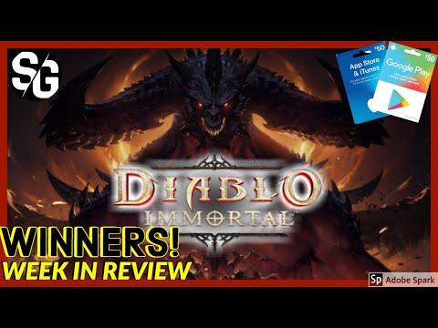 WINNERS | DIABLO IMMORTAL APP GAME | WEEK IN REVIEW