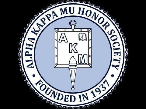 Alpha Kappa Mu Honor Society, Mu Beta Chapter, Induction Ceremony