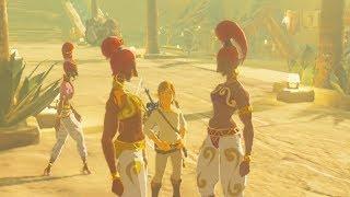 Link Enters Gerudo Town with NO Gerudo Clothes - Zelda Breath of the Wild