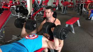 Jono Jones - 65kg DB Chest Press
