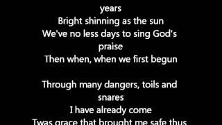 Elvis Presley- Amazing Grace- Lyrics On Screen