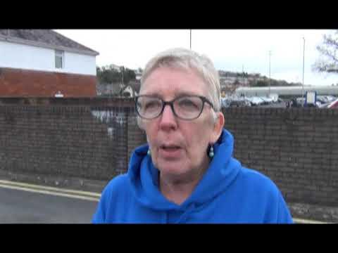 Vicky praises work of Carmarthen housing co-op resident