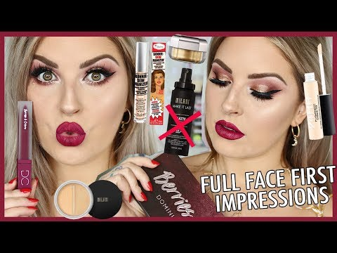 Full Face FIRST IMPRESSIONS ? Dominique Cosmetics, MAC & More!
