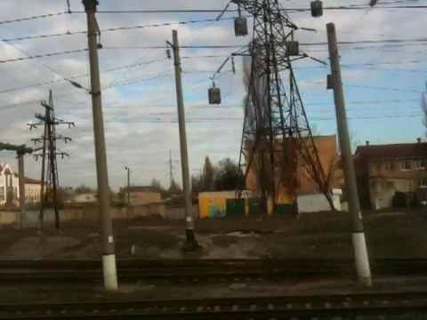 On the train in Ukraine