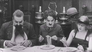 Spaghetti Eating   The Count 1916   Charlie Chaplin