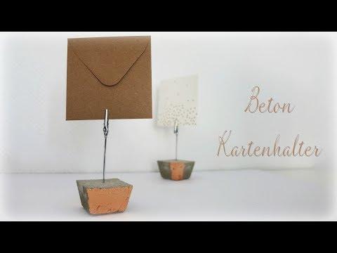 Beton Fotohalter * DIY * Concrete Memo Holder