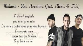 Aventura - maluma (con letra) feat Alexis & fido
