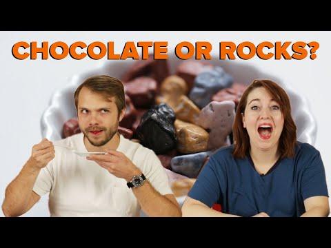 """Is This Food Or Something Else"""": Chocolate or Rocks ? Tasty"""