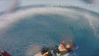 Scuba diver rescued after 17 hours stranded at sea