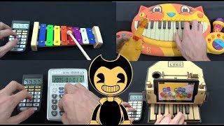 BENDY AND THE INK MACHINE - BUILD OUR MACHINE PLAYED ON FUNNY INSTRUMENTS COMPILATION