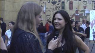 Actress Christa Campbell @ the 2001 Maniacs Field of Screams red carpet