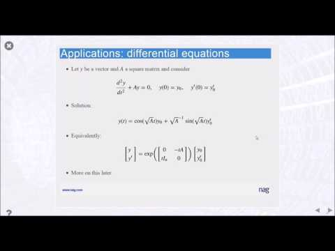 The Role of Matrix Functions Webinar