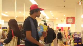 Pokemon fight in shopping mall