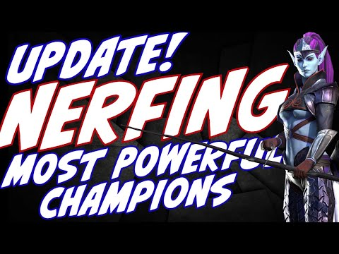 New UPDATE to nerf our strongest champions. I think I know their game plan. Raid Shadow Legends