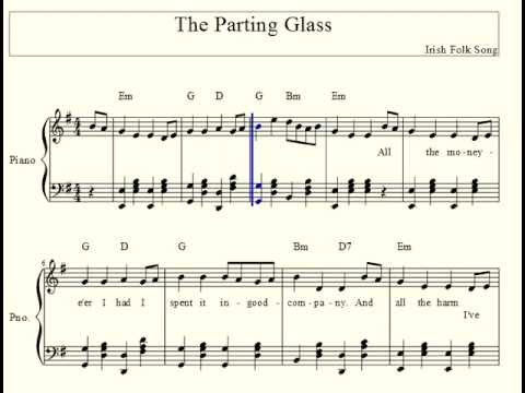 The Parting Glass Arranged By Kedimy Chords Chordify