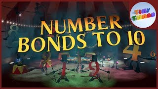 Number Bonds To 10 | Pairs of Numbers That Make Ten | Tiny Tunes