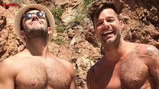 Ricky Martin   y Su Esposo  Jwan Yosef  Románticos En Las Playas De Italia