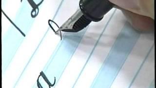 Trechos da video aula - Curso de Caligrafia a arte das mãos - 1