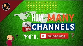 How to check how many channels YOU subscribe to