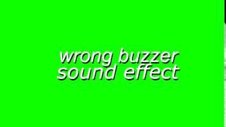 Wrong Buzzer Sound Effect  | GG Green Screens