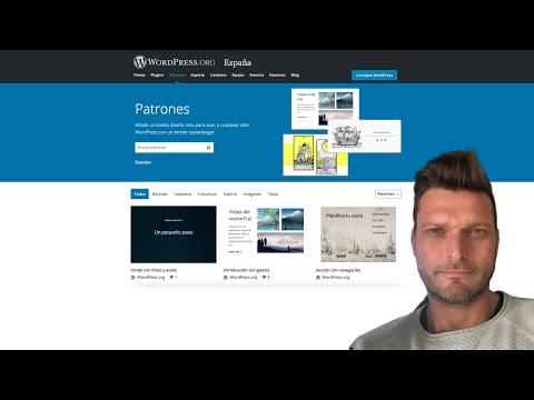 ✅ ¿Qué son los nuevos PATRONES de WordPress.org? Gutenberg