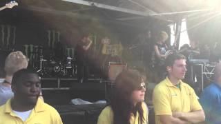 Crossfaith - Ghost In The Mirror (feat. Caleb Shomo) Warped Tour 2015 Tinley Park, Illinois