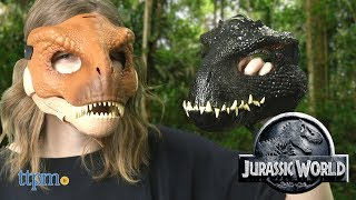 Jurassic World Tyrannosaurus Rex & Indoraptor Masks from Mattel