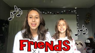 FRIENDS (clean) by Marshmello and Anne-Marie - Cover by Sisters Brooklyn Noelle & Presley Noelle