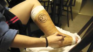 Leg cast - Steampunk style