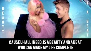 Beauty And A Beat - Justin Bieber & Nicki Minaj Karaoke Duet |Sing With Justin!!|